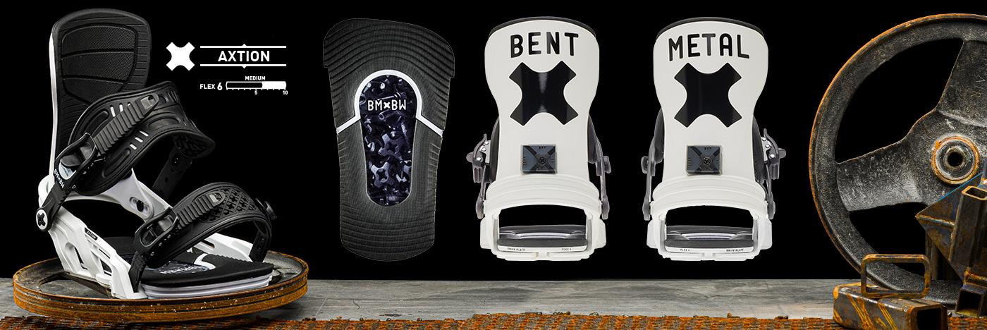 Bent Metal Axtion snowboard binding.