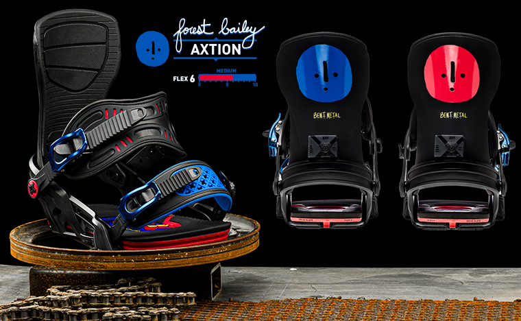 Bent Metal Bindings Axtion Forest Bailey Snowboard Binding
