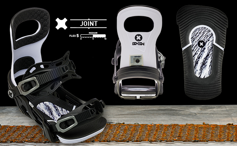 Bent Metal Joint snowboard binding