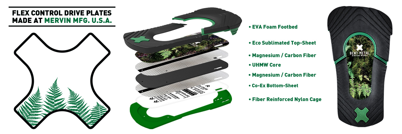 Bent Metal Bindings Flex Control Drive Plates